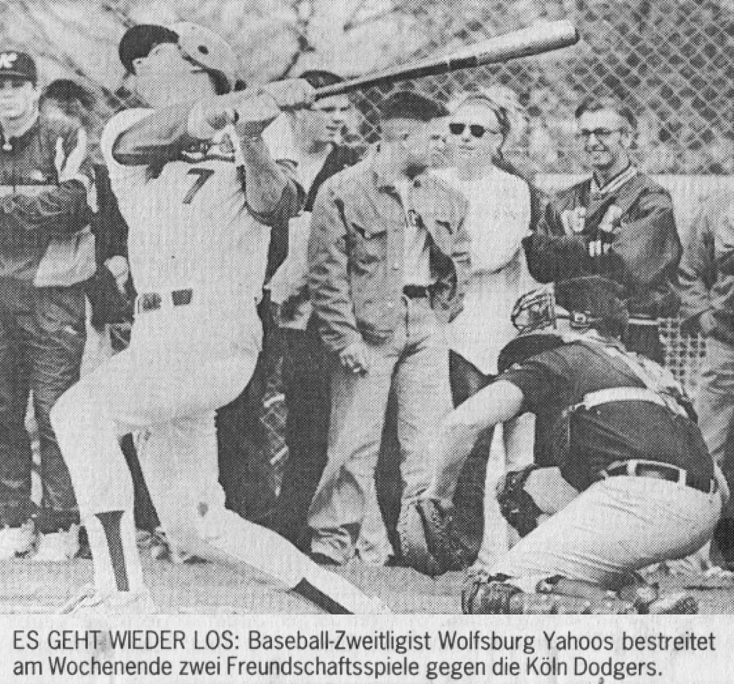 ES GEHT WIEDER LOS: Baseball-Zweitligist Wolfsburg Yahoos bestreitet am Wochenende zwei Freundschaftsspiele gegen die Köln Dodgers.