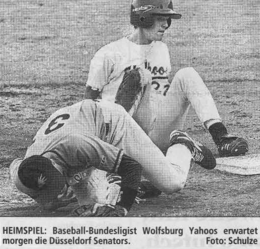 HEIMSPIEL: Baseball-Bundesligist Wolfsburg Yahoos erwartet morgen die Düsseldorf Senators. Foto: Schulze