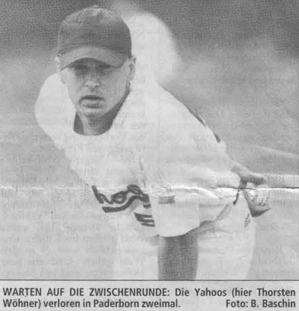 WARTEN AUF DIE ZWISCHENRUNDE: Die Yahoos (hier Thorsten Wöhner) verloren in Paderborn zweimal. Foto: B. Baschin