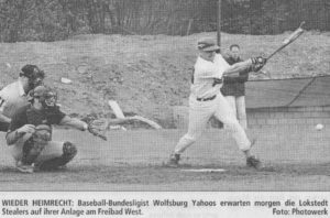 WIEDER HEIMRECHT: Baseball-Bundesligist Wolfsburg Yahoos erwarten morgen die Lokstedt Stealers auf ihrer Anlage am Freibad West. Foto: Photowerk