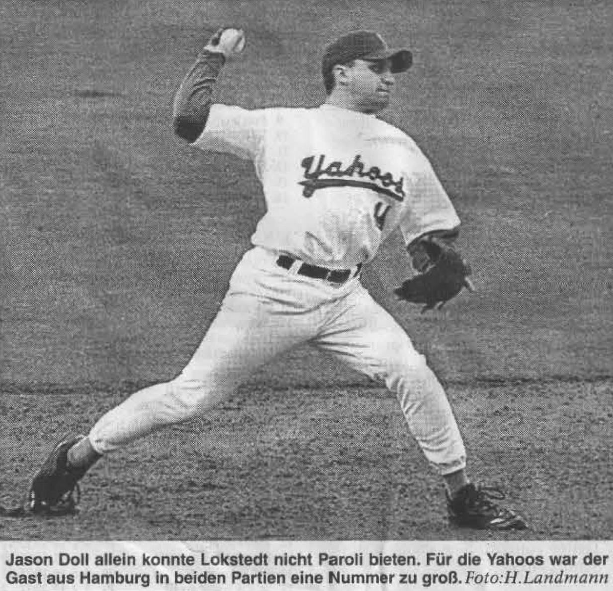 Jason Doll allein konnte Lokstedt nicht Paroli bieten. Für die Yahoos war der Gast aus Hamburg in beiden Partien eine Nummer zu groß. Foto: H. Landmann