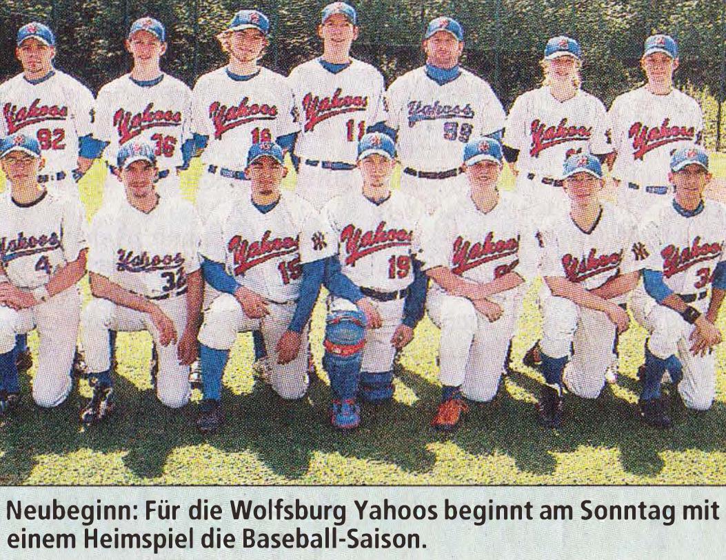 Neubeginn: Für die Wolfsburg Yahoos beginnt am Sonntag mit einem Heimspiel die Baseball-Saison.