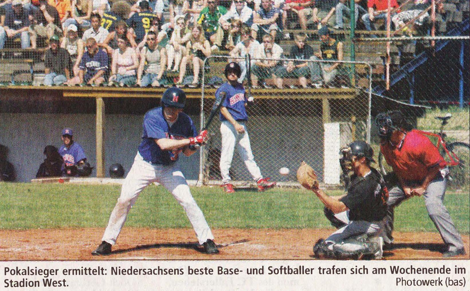Pokalsieger ermittelt: Niedersachsens beste Base- und Softballer trafen sich am Wochenende im Stadion West. Photowerk (bas)