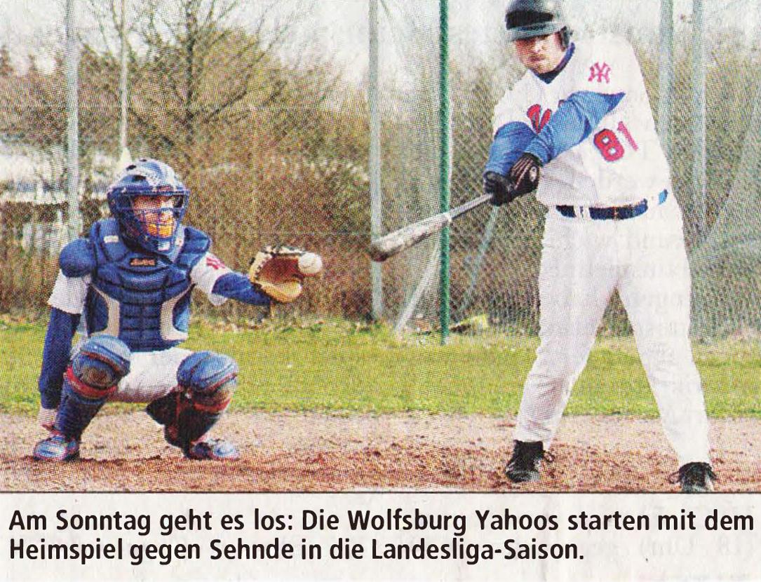 Am Sonntag geht es los: Die Wolfsburg Yahoos starten mit dem Heimspiel gegen Sehnde in die Landesliga-Saison.